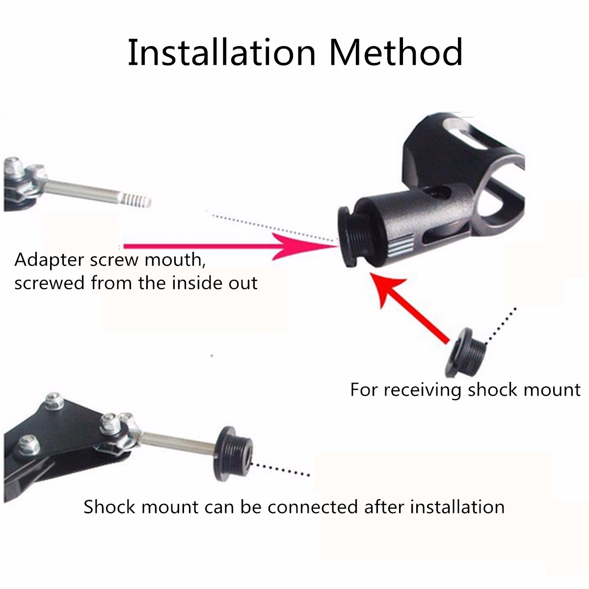 Adjustable Recording Microphone Stand Holder Clip Microphone Table Bracket With Shock Mount