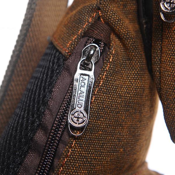 Men Casual Chest Bag Vintage Crossbody Shoulder Bag Fashion Canvas Crescent Bag