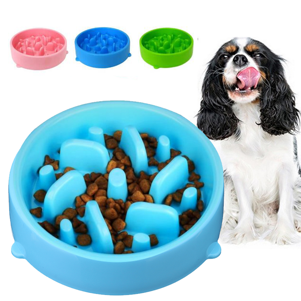 Pet Dog Cat Slow Eating Bowl Bloat Puzzle Healthy Feeder Interactive Fun Jungle