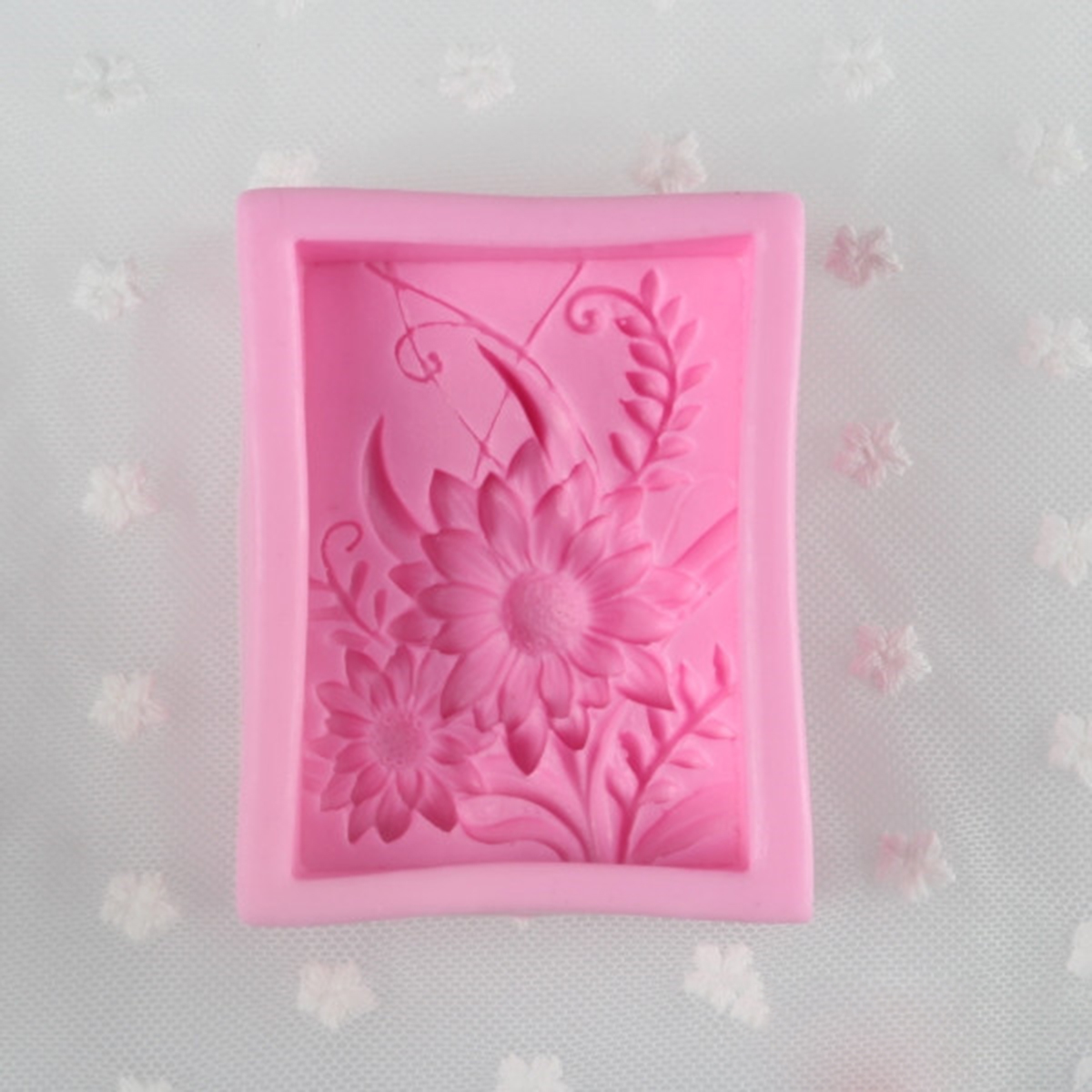 Silicone 3D Flexible Sunflower Candle Soap Making Mould Cake Handmade DIY Mold