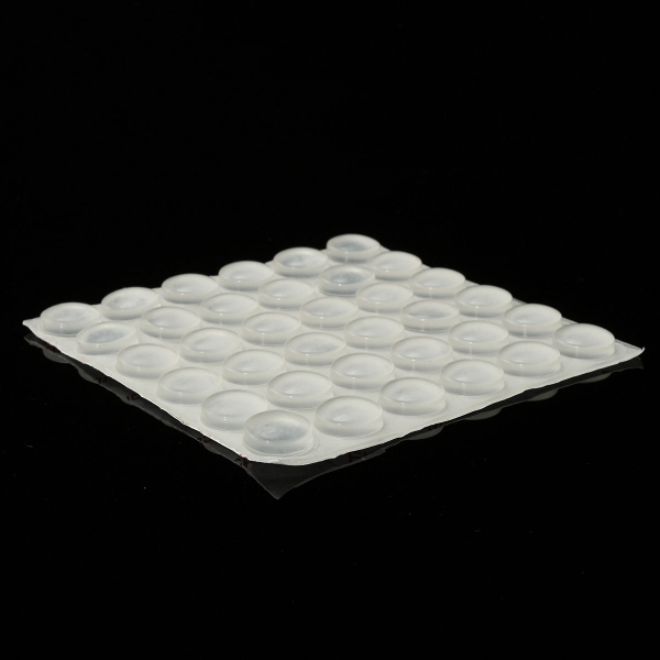 36Pcs Self-Adhesive Clear Round Rubber Bumpers Pad Feet 14mm×5.5mm