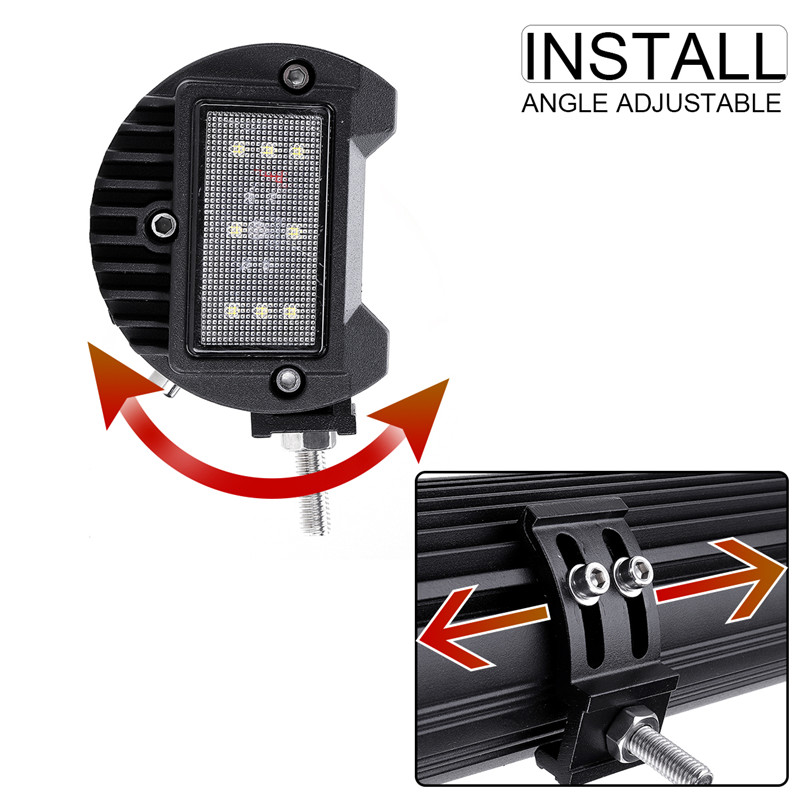 32Inch LED Work Light Bars with Side Shooter Combo Beam Fog Lamp 672W 67200LM for Off Road ATV