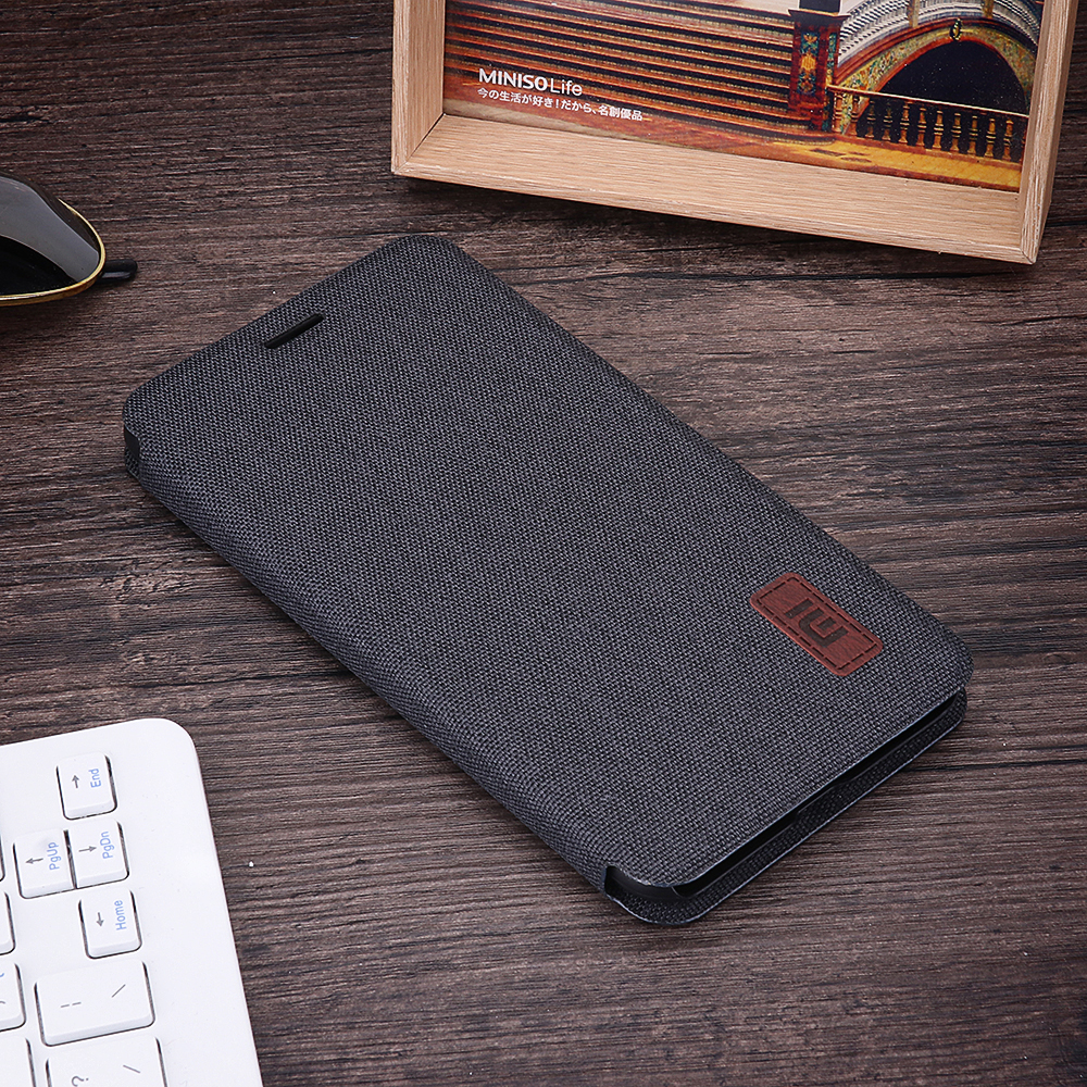 Bakeey Flip Shockproof Fabric Edge Full Body Protective Case For Xiaomi Redmi Note 6 Pro