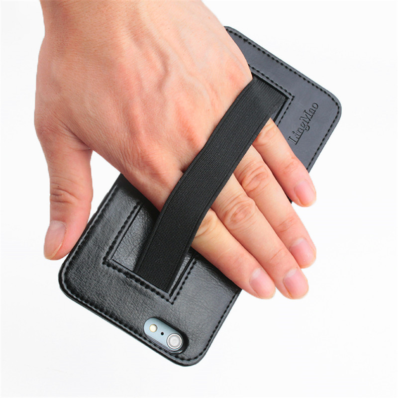 Multifunction Hand Strap PU Leather Flip Card Case Holster Wallet Holder For iPhone 6 Plus 6S Plus