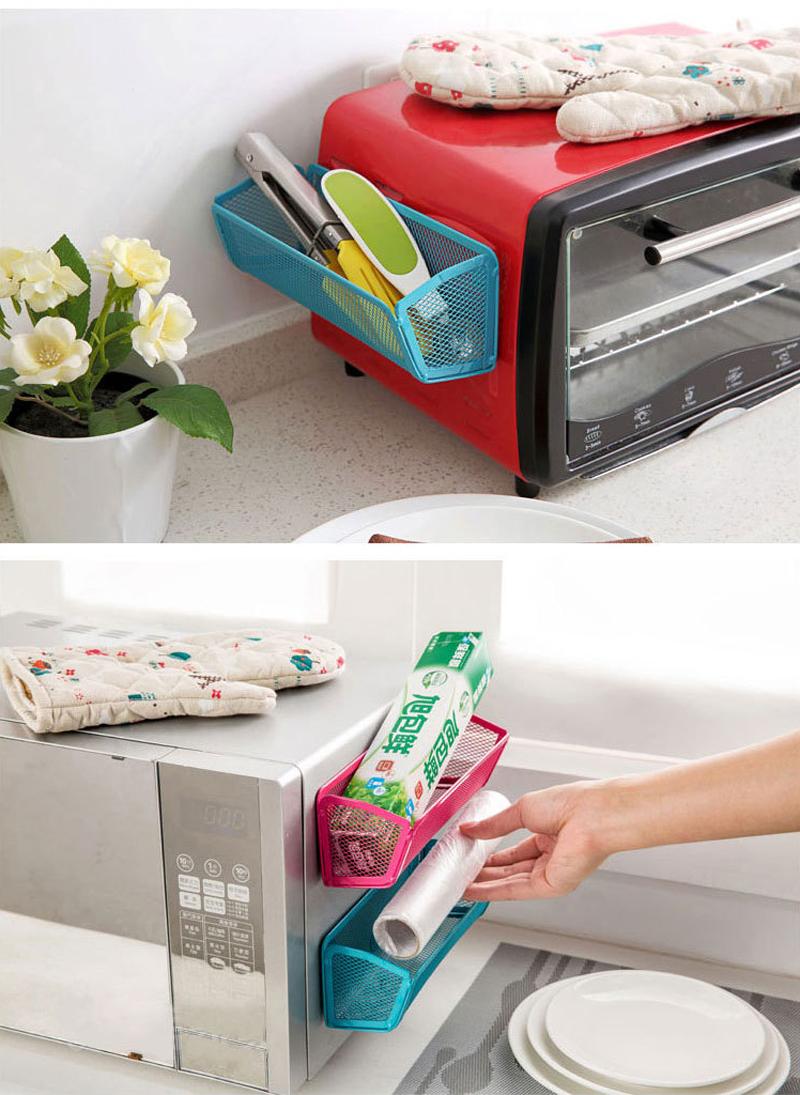 Honana CF-KO09 Kitchen Living Room Refrigerator Fridge Microwave Oven Hanging Rack Magnet Organizer