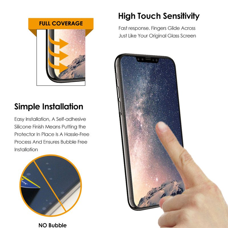 Bakeey 4D Curved Edge Cold Carving Tempered Glass Screen Protector For iPhone XS/X