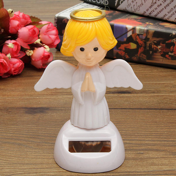 Solar Powered Toy Bobble Head Di Chuyển Wings Dancing Angel