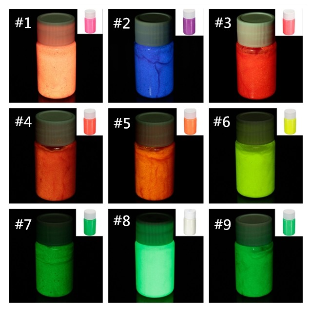 Glow in Dark Paint Black Light Night Fluorescent UV Ultraviolet Paint Super Bright Art