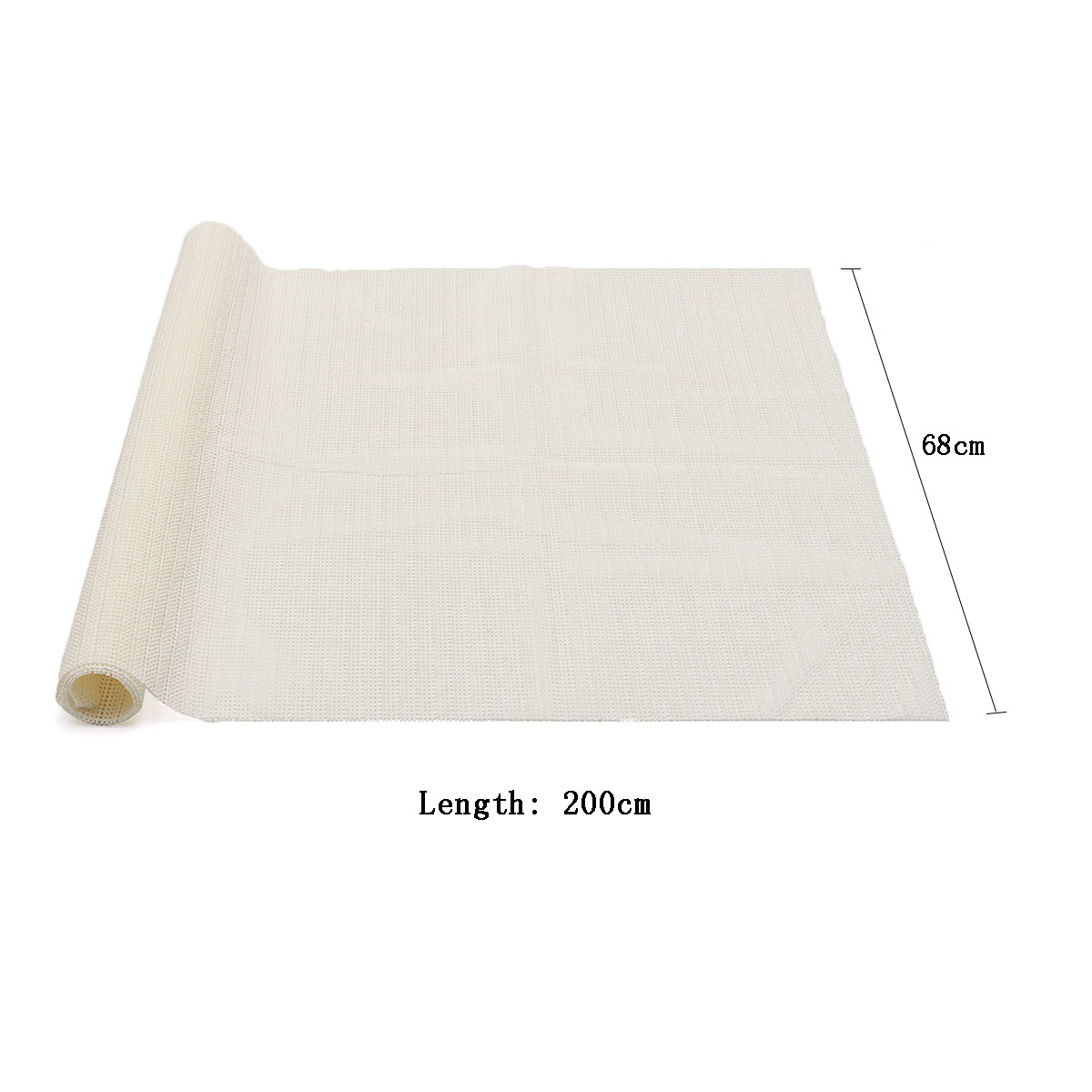 68x200cm Anti Slip Rug Carpet Mat Base Fabric Anti Skid Underlay for Home Room Bath Runner