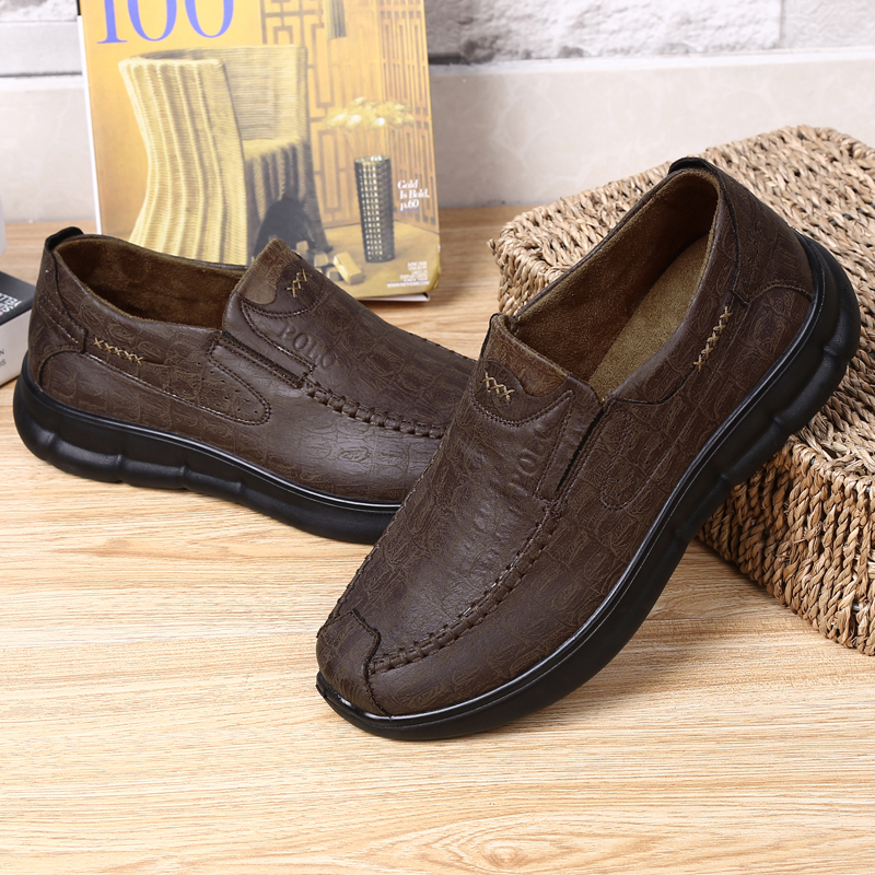 Comfy Sole Slip On Leather Oxfords