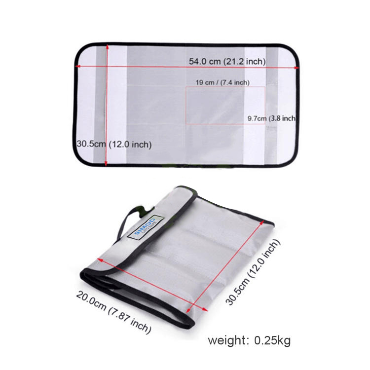 9imod Lipo-Battery Explosion Proof Bag 200x305mm Portable Safety Bag for RC Battery