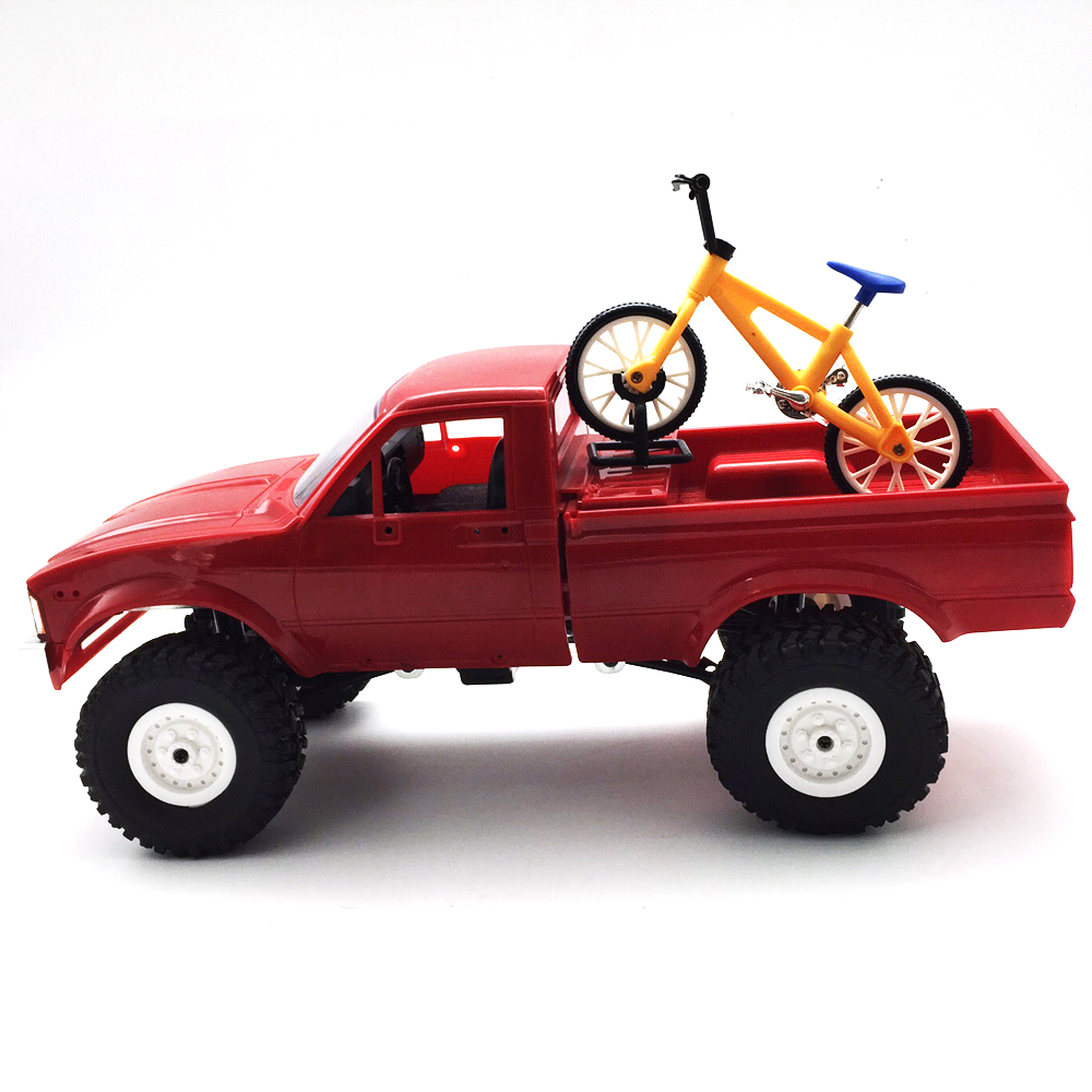 1Pc WPL Simulate Action Figure Bike Bicycle 10cm Random Delivery RC Car Parts 121x48.4x80mm - Photo: 3