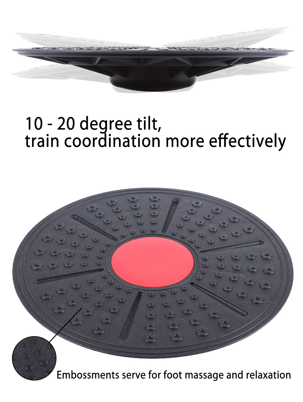 ABS 360 Degree Rotation Massage Balance Board Home Body Building Physical Foot Massage Twist Plate