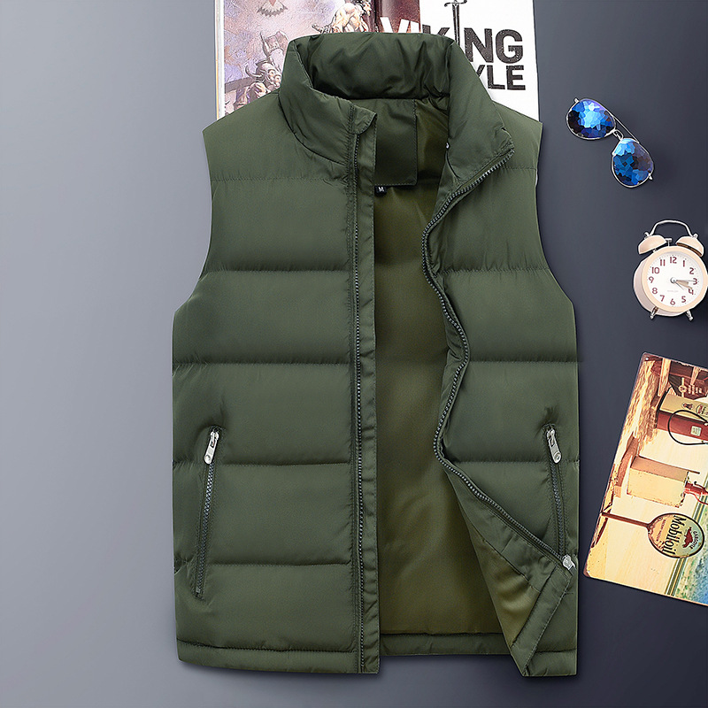 Mens Winter Plus Size Thick Warm Insulated Padded Vest