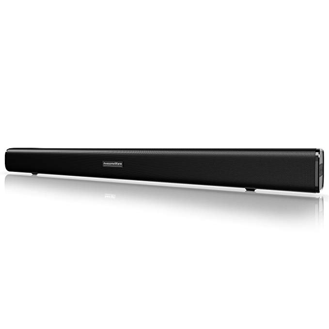 BlitzWolf® BW-SDB2 60W Smart Soundbar 2.1 Audio Channel, 6 Speakers & 2 Low-Frequency Radiators for TV PC with Coaxial/Optical/AUX/USB