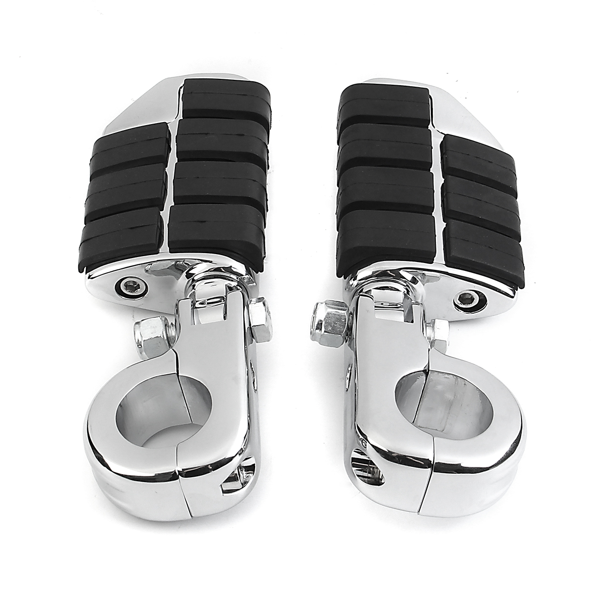 Pair 32mm Motorcycle Foot Rest Pegs Footboards with Mounts Male Wing For Harley