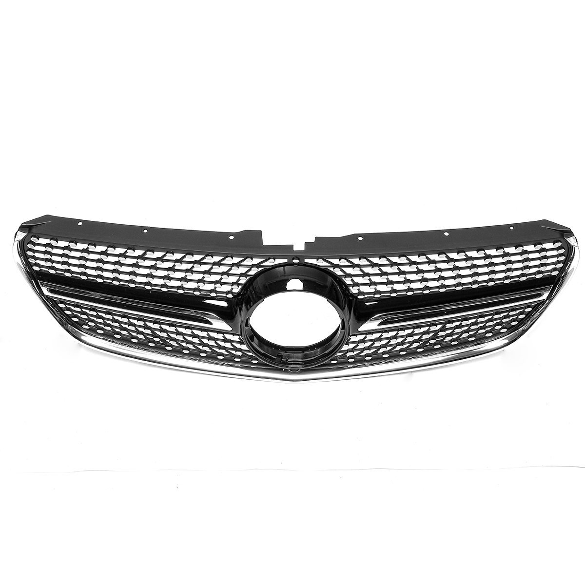 Front Black Racing Diamond Grill Bumper Grille Cover For Mercedes W447 V250 V260 15-18