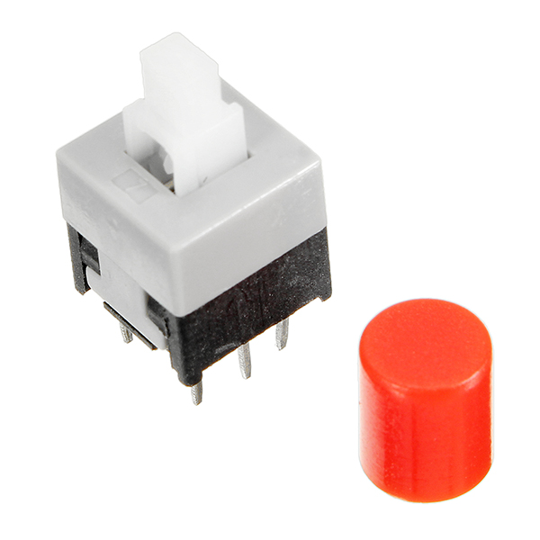 5Pcs CJMCU-010 With Lock Button Self-locking Switch Double Row Switch