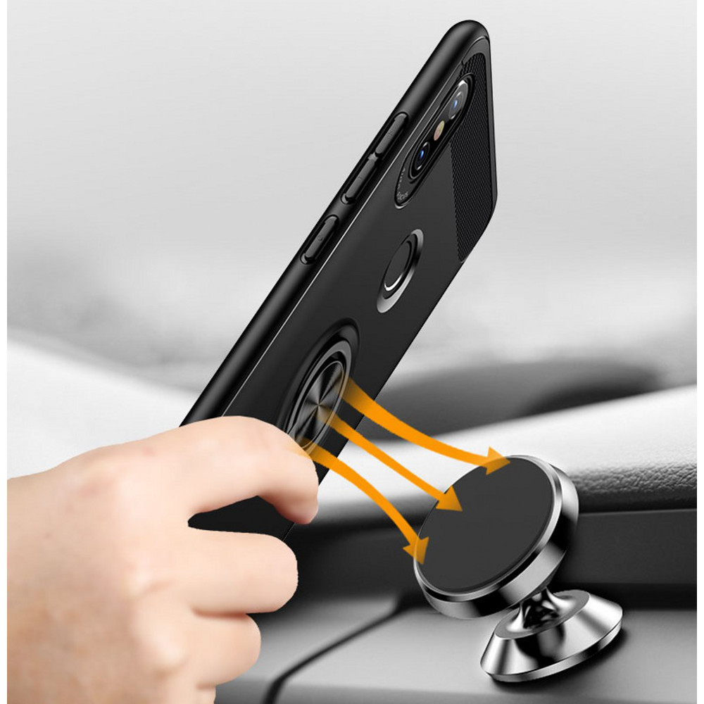 Bakeey 360 Adjustable Metal Ring Kickstand Magnetic PC Protective Case for Xiaomi Redmi Note 5