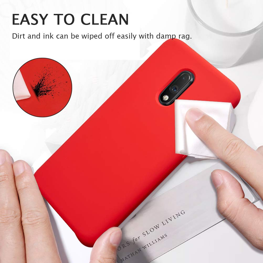 Bakeey Anti-scratch Anti-fingerprint Liquid Silicone Protective Case for OnePlus 7
