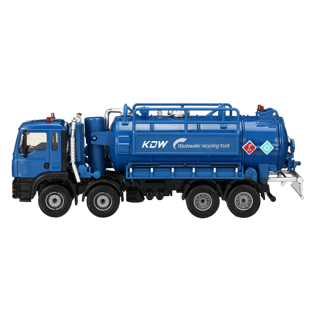 1:50 Scale Diecast Model Vacuum Sewage Waste Water Suction Truck Model Toy Shipping Model