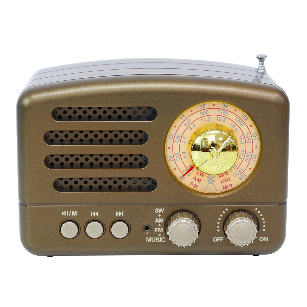 Portable AM FM AUX Vintage Retro Radio SW bluetooth Speaker TF Card USB MP3 Music Player