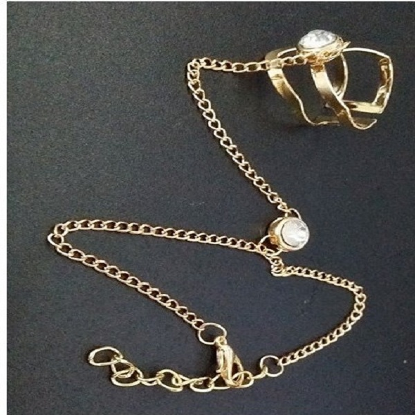 Fashion Chain Bracelets Hollow Geometric Rhinestone Bracelet