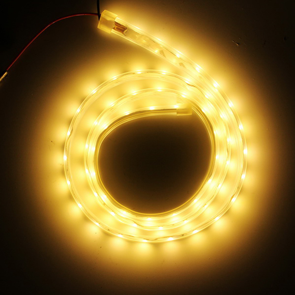 1M SMD3528 60 LED Waterproof Silicon Tube Flexible Strip Light Home Party Car Ribbon Lamp DC12V
