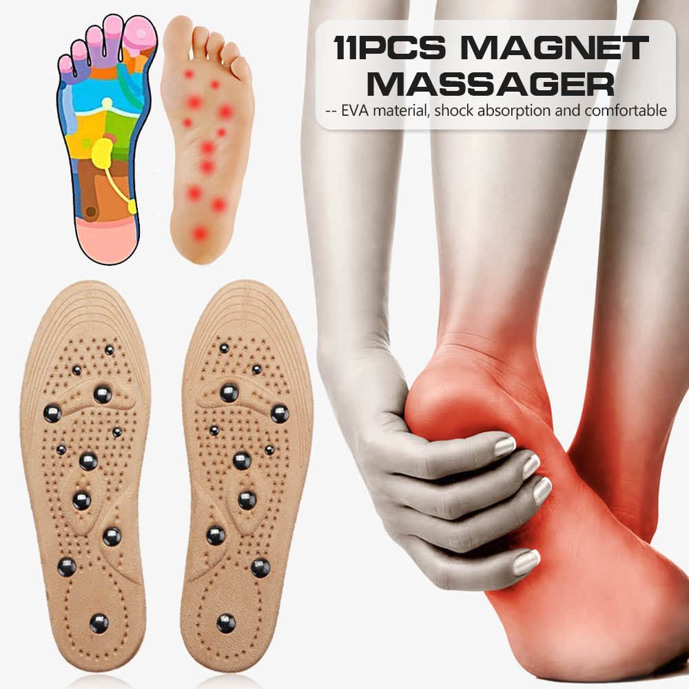 1 Pair Magnetic Therapy Women Men Suede Insole Anti Fatigue