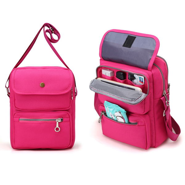 Women Nylon Travel Passport Bag Crossbody Travel Bag Useful