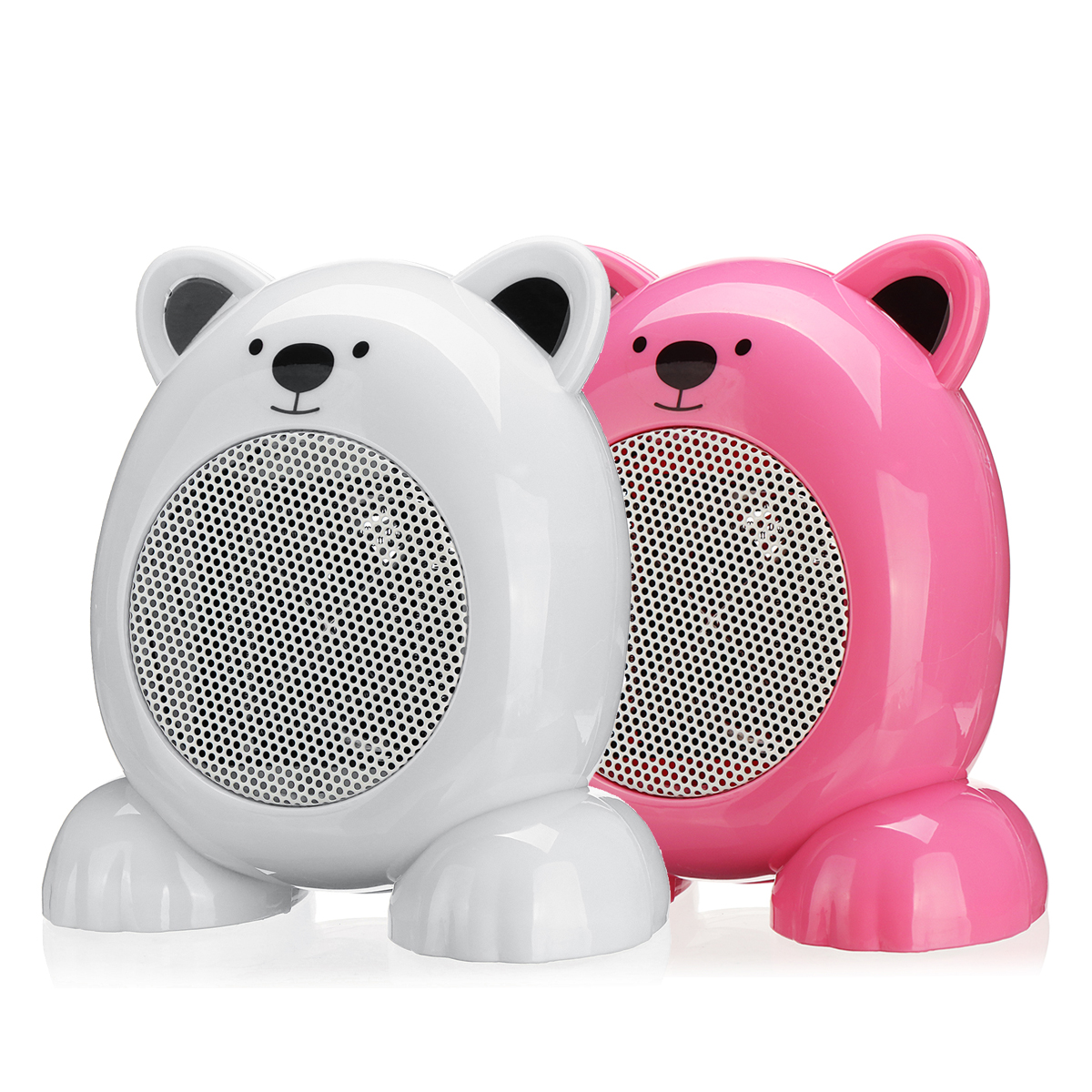 220V 360W Cartoon Bear Style Heater Fan Portable Mini Silencer Electric Heater Fan