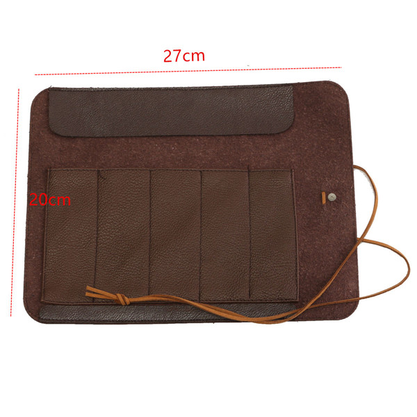Stone Carving Tool Bag Scabbard Can Roll Not Genuine PU Leather Tool Bag