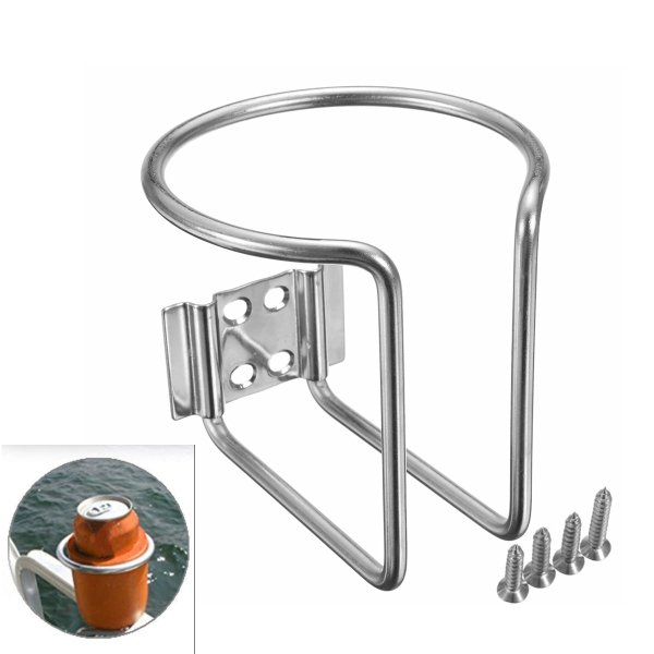 Boat Ring Cup Drink Holder Stainless Steel For Marine Yacht Truck RV Silver
