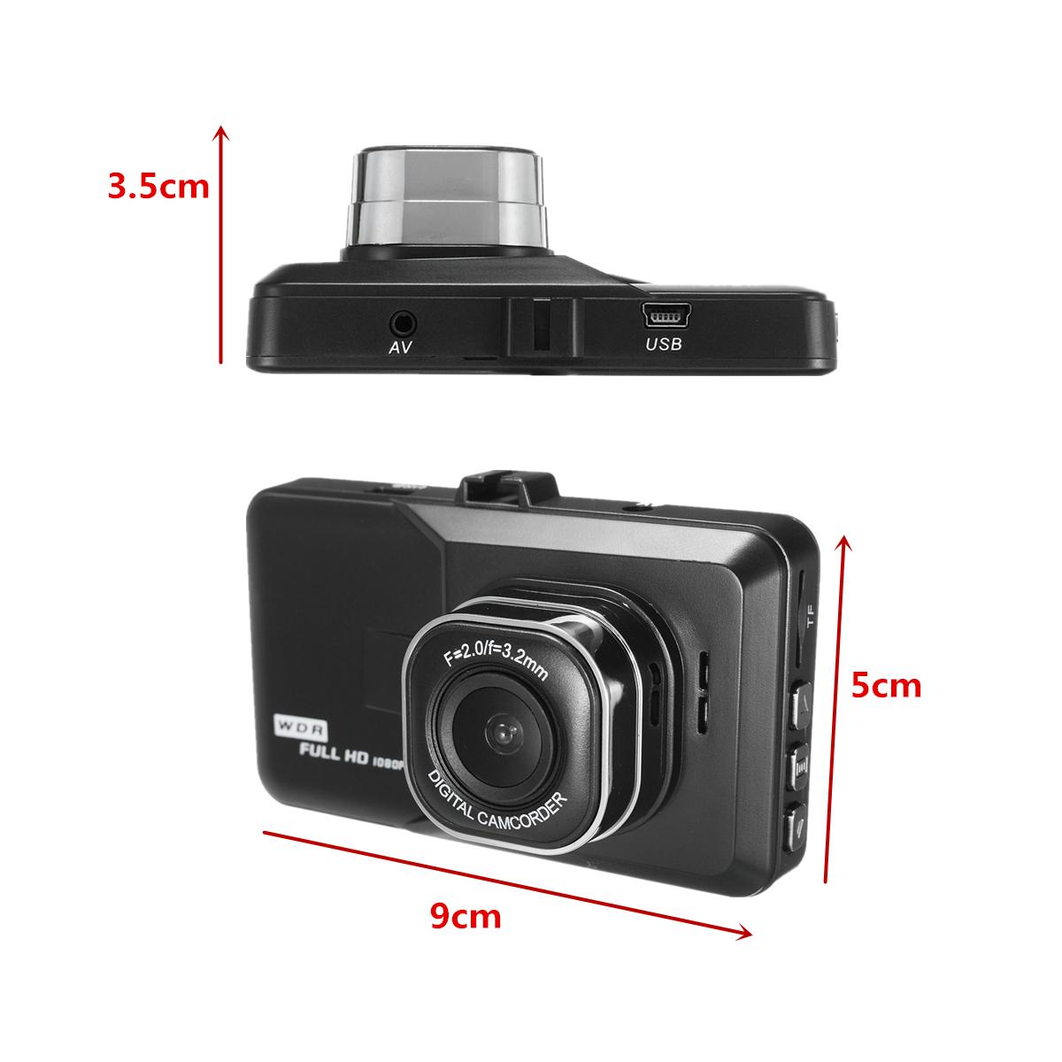 3inch Full HD 1080P Car DVR Camera G-sensor Vehicle Dash Cam Digital Video Recorder