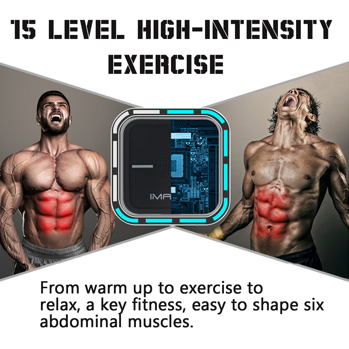 8pcs Magic Abdominal Muscle Training Fitness Gear Exercise Body Squishies Squishy Gel Sheet Set
