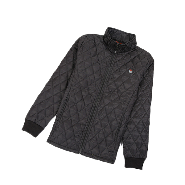 Winter Lightweight Stand Collar Checkered Quilted Jackets for Men