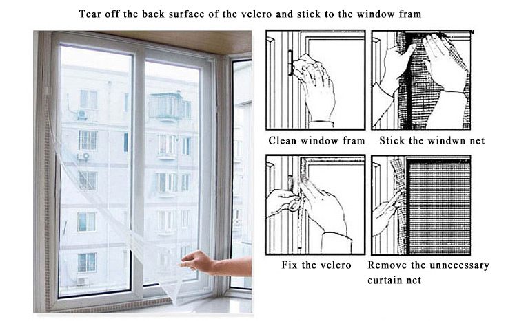 59x59 Inch Anti Mosquito Pest Curtain Net Mesh Window Door Screen Curtain Protector