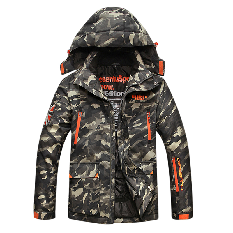 Image of Camo Multi Pockets windundurchlässige dicke Utility-Outdoorjacke