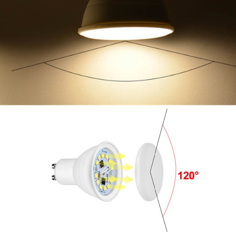ARILUX® GU10 MR16 6W SMD2835 474LM Pure White Warm White LED Corn Spotlight Bulb for Home AC220V
