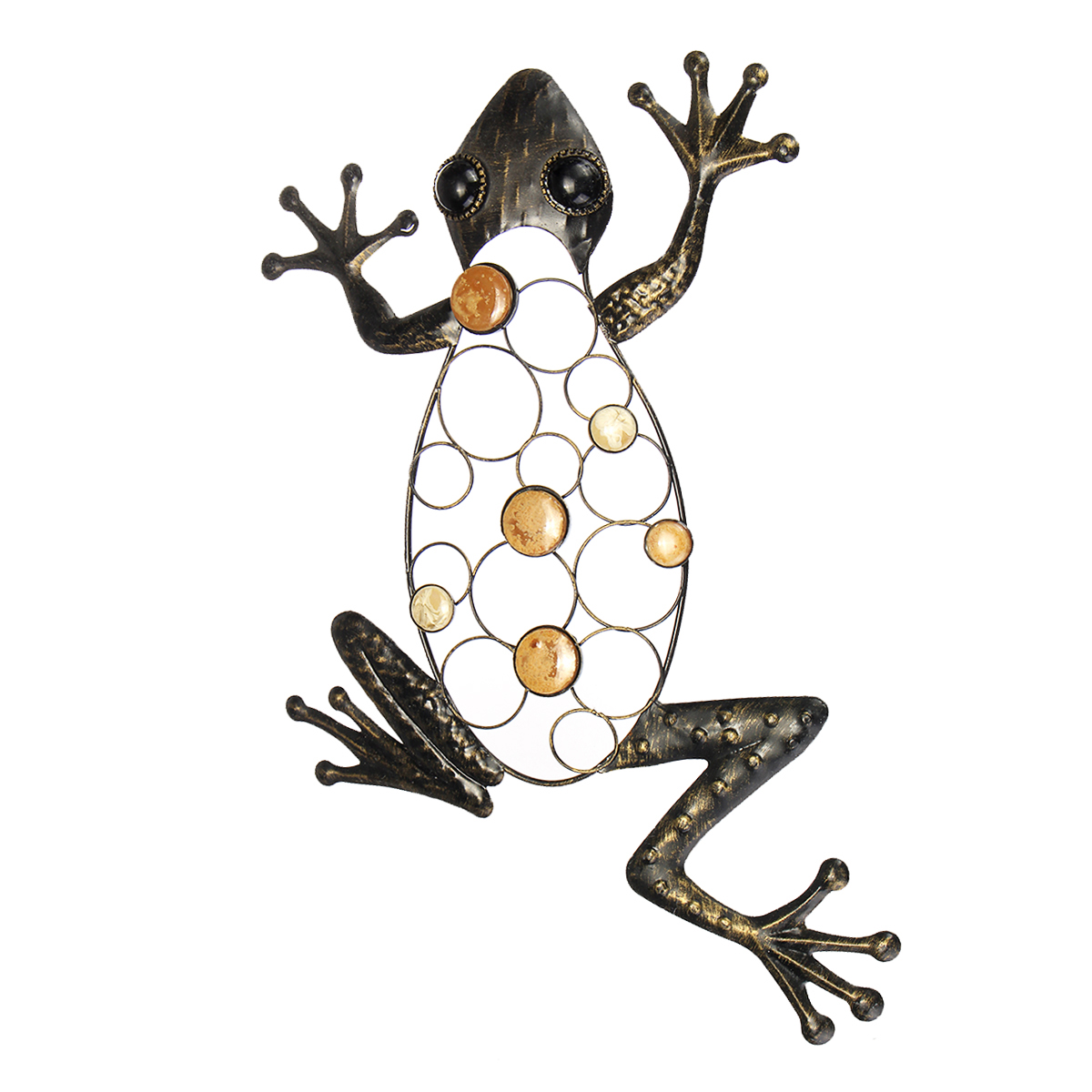 Frog Iron Metal Craft Garden Hanging Wall Art Ornament Mounted Home Decorations