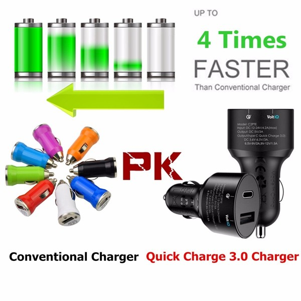 Quick Charge 3.0 Tronsmart Dual USB 3.1 Type C Car Charger for Nexus 6P Nexus 5X