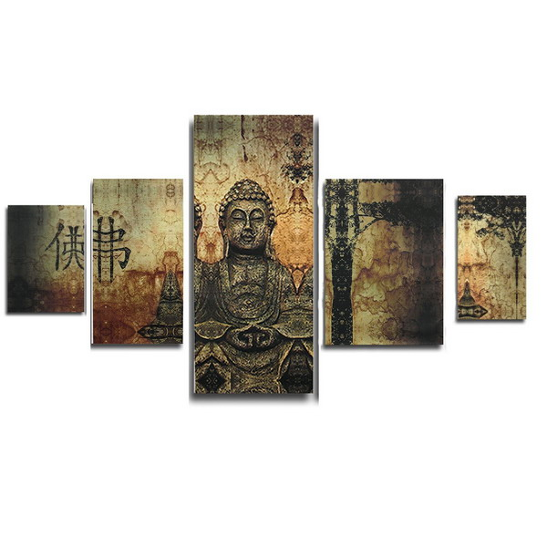 Frameless Huge Buddha Abstract Canvas Oil Painting Mode