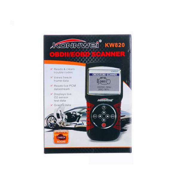 KONNWEI KW820 OBDII/EOBD Code Reader Car Vehicle Engine Scanner Auto Diagnostic Tool