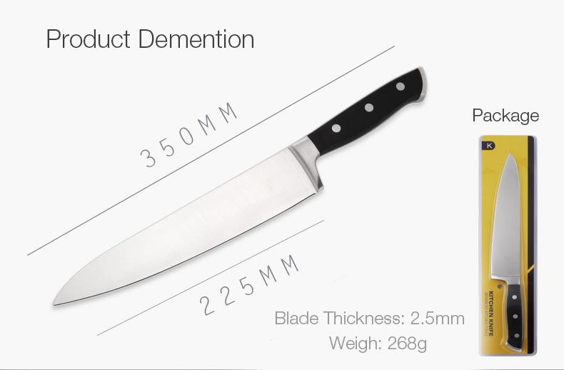 KCASA KC-11 Multifunctional High Quality Prolong Stainless Steel Fruit Meat Easy Cutting Sharp Kitchen Knife