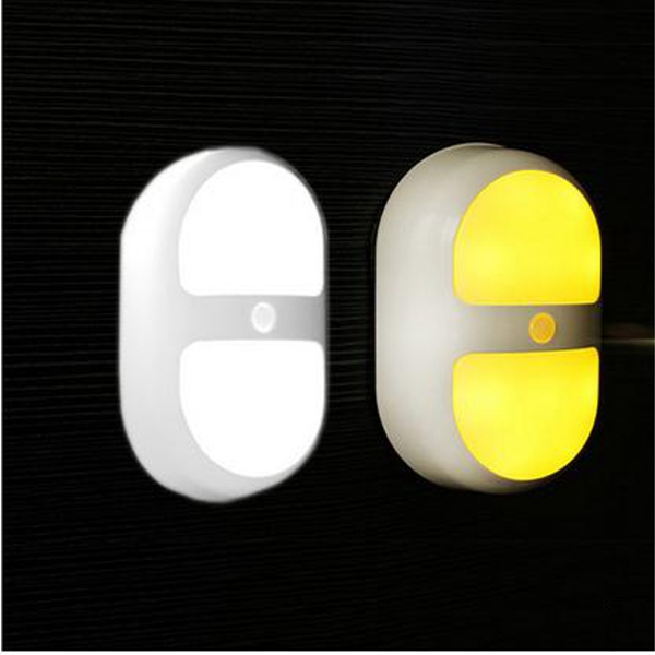 LED Night Light Human Motion Induction Sensor Control Lamp Battery For Bedroom Bathroom