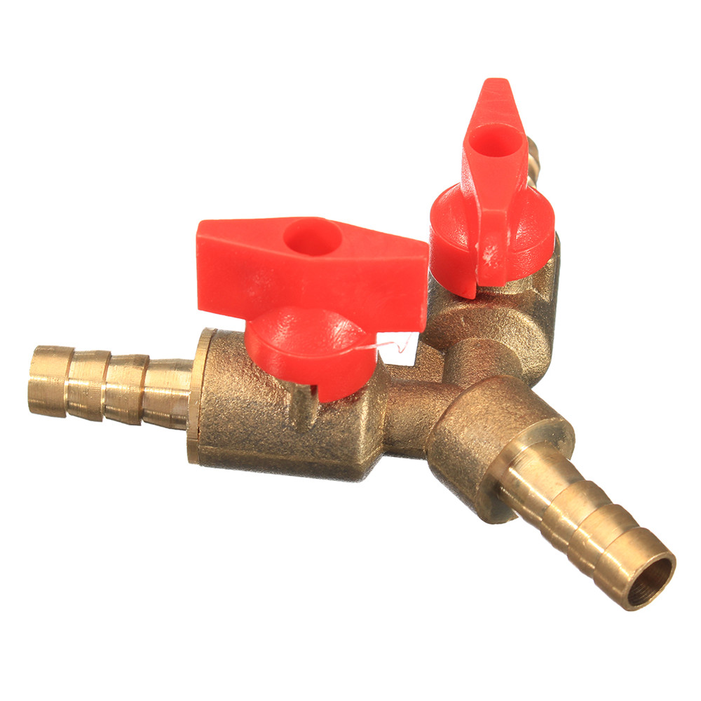 5/16 Inch Brass Y Shape 3 Way Shut off Ball Valve Fitting