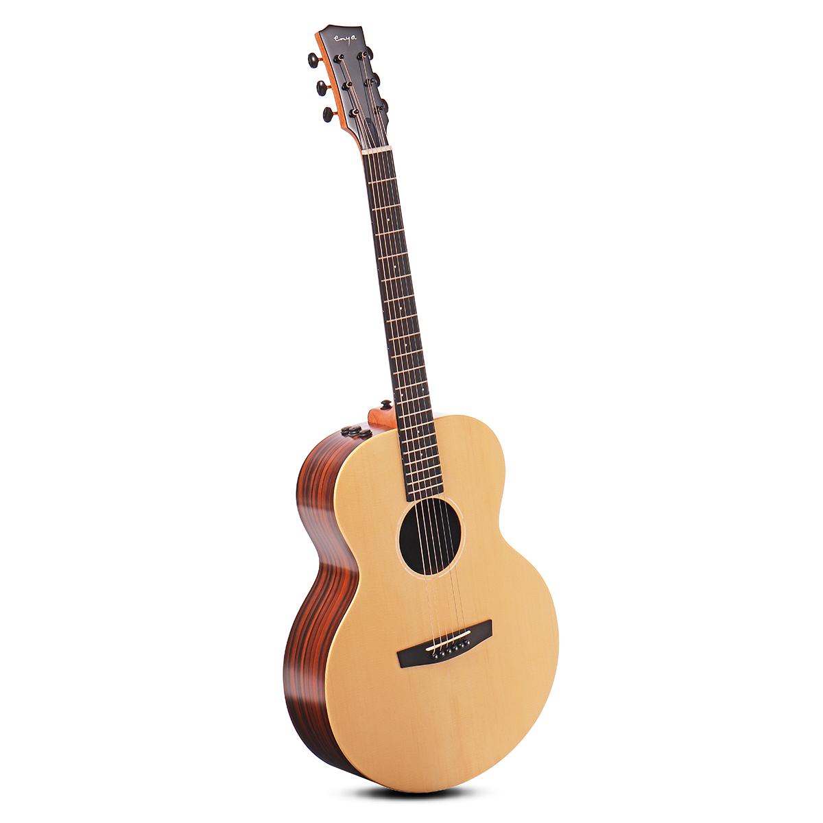 Enya EA-X2/EQ 41 Inch AJ Guitar Engelman Spruce Wood Acoustic Folk Guitar