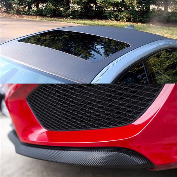 3D Carbon Fiber Vinyl Car Wrap Sheet Roll Film Sticker Decal DIY 100