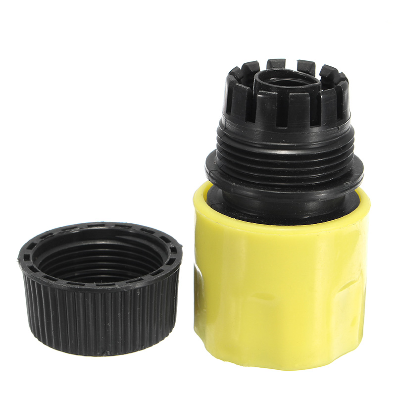 1/2 Inch Plastic Water Hose Pipe Quick Connector Garden Tap Washer Spayer Coupler Yellow