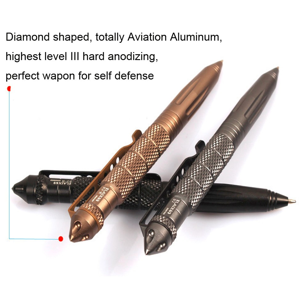 IPRee® Outdoor EDC Tactical Pen Aluminum Alloy Survival Emergency Safe Security Tool